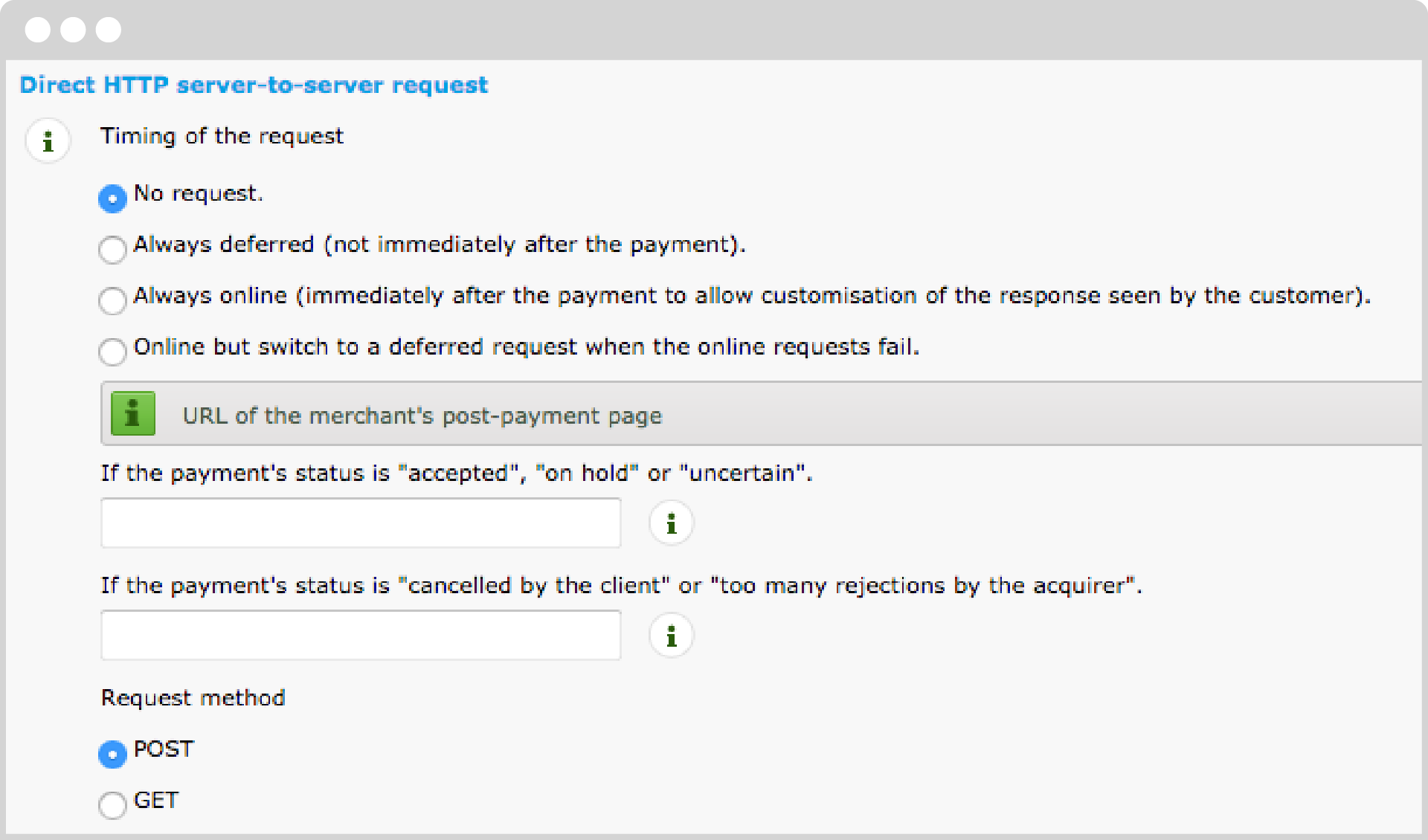 request payment from customer